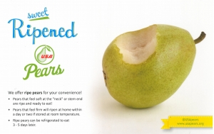 sweet ripened pears